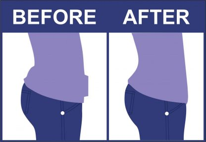 Fabric before & after