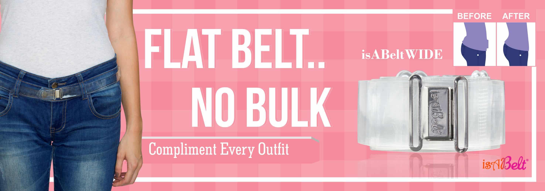 Wide flat belt