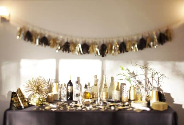new year party bar - New Years Eve Party Inspiration Ideas